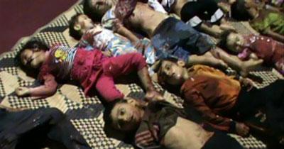 Copii sirieni masacrați